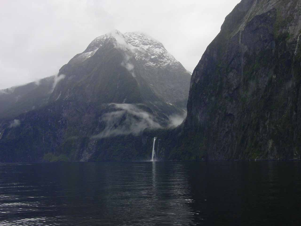 Looking across Milford Sound towards Stirling Falls