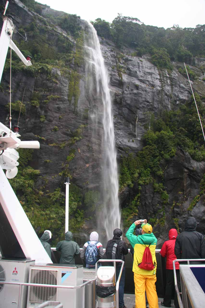 About to go beneath the thinner Fairy Falls during our 2009 cruise