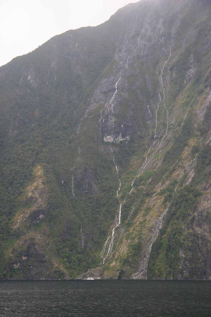 More sudden veins of waterfalls after passing through a squall