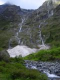 Milford_Track_day3_002_11282004 - A series of waterfalls seen at the start of Day 3 of the Milford Track