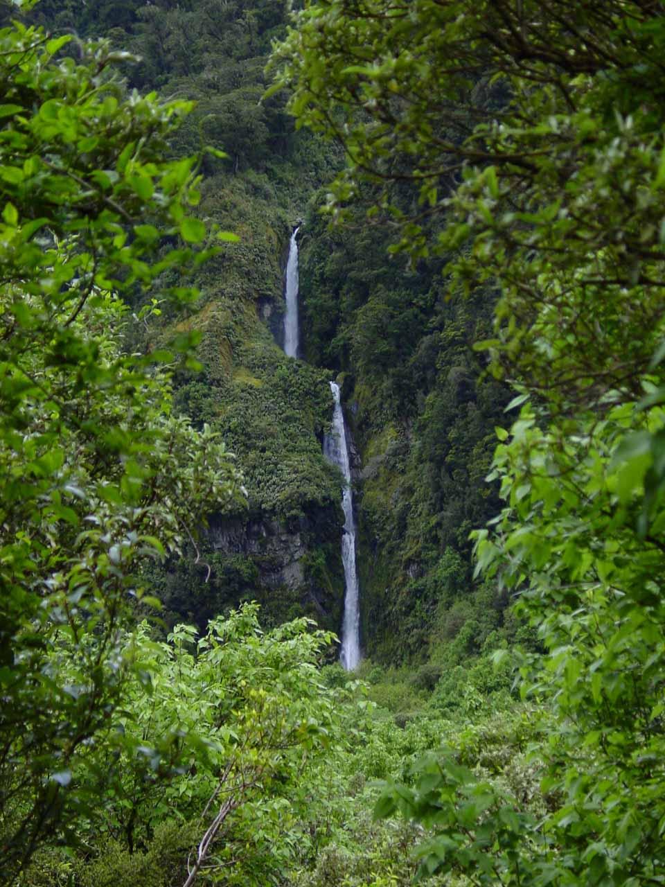 Closer examination of St Quintin Falls