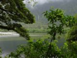 Milford_Track_day4_084_11292004 - Context of looking across the Arthur River towards an ephemeral waterfall on day 4 of the Milford Track