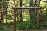 Mill_Creek_Falls_prospect_019_07152016 - Another torii-like sign pointing the way to both Mill Creek Falls and Barrs Creek Falls while also showing their heights