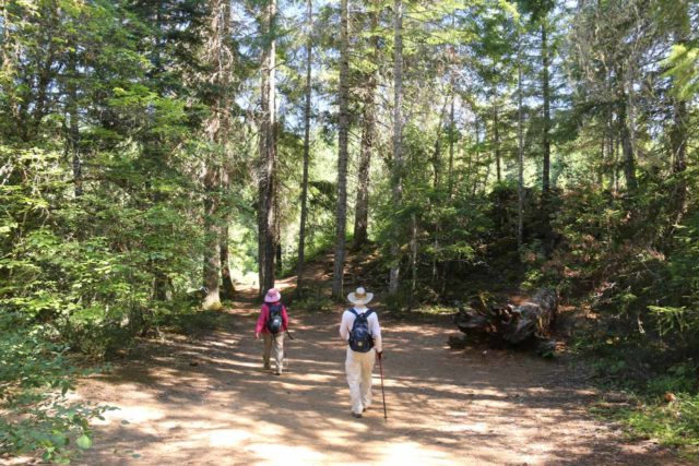 Mill_Creek_Falls_prospect_038_07152016 - Mom and Dad pursuing the outcrops up ahead affording us a view towards Barr Creek Falls