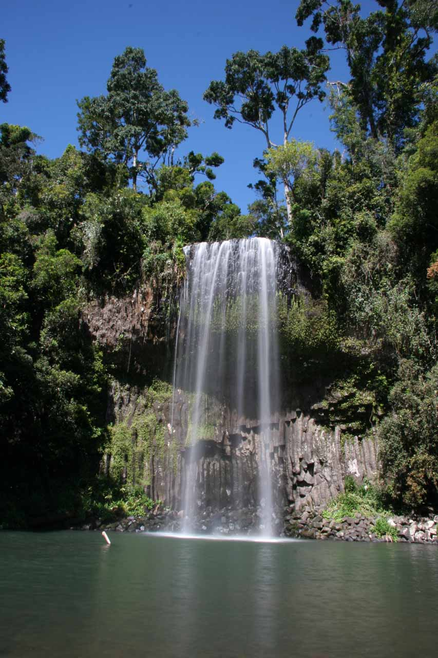 Millaa Millaa Falls at high noon in long exposure