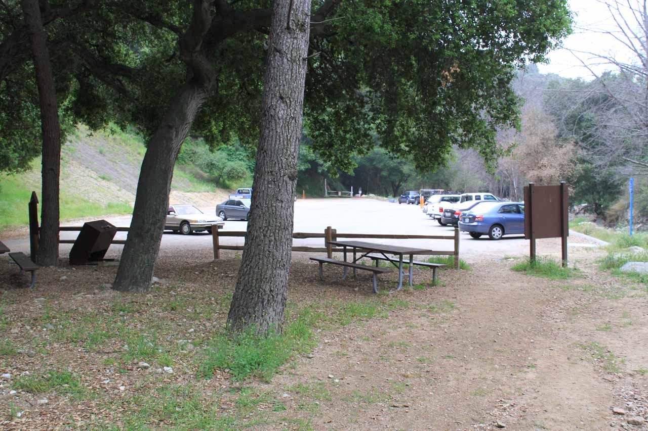 Looking back at Millard Campground Car Park