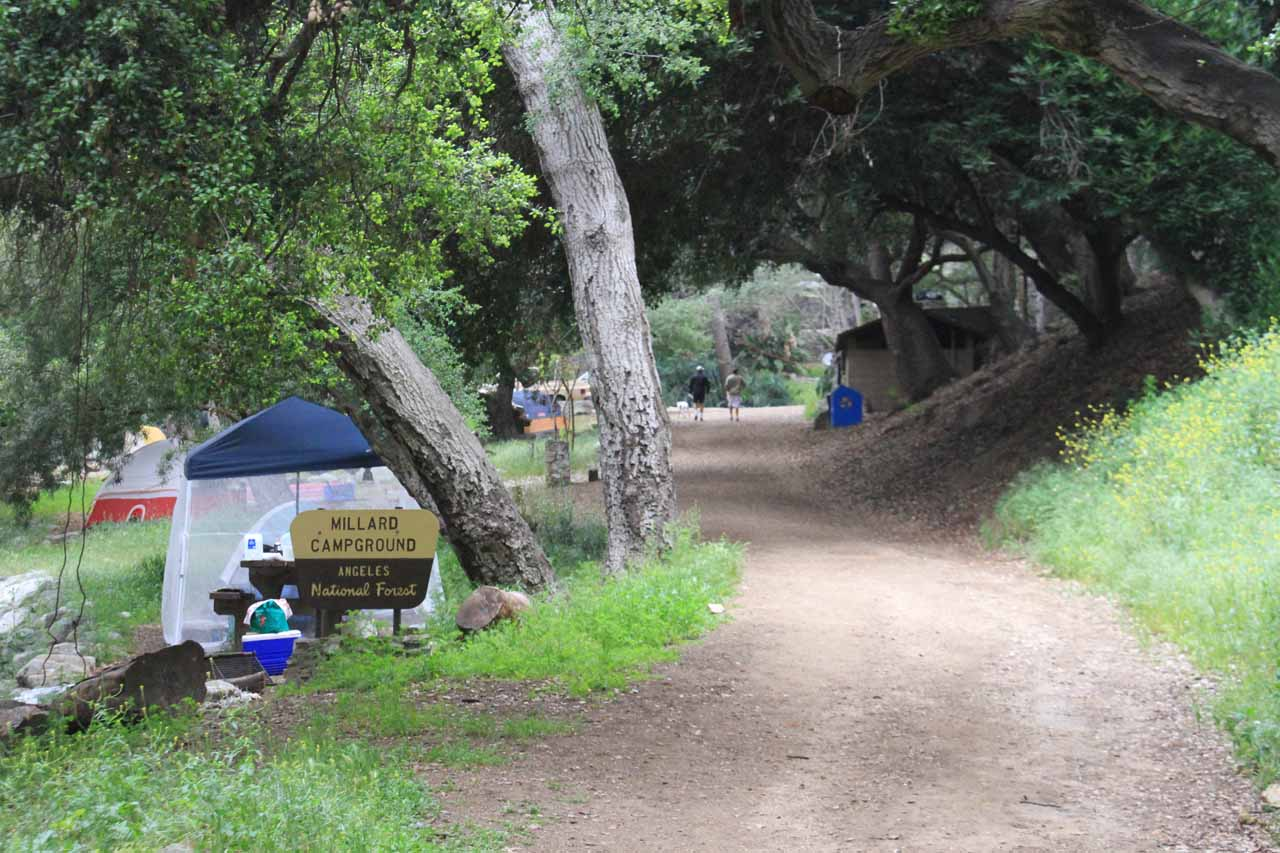Approaching Millard Campground