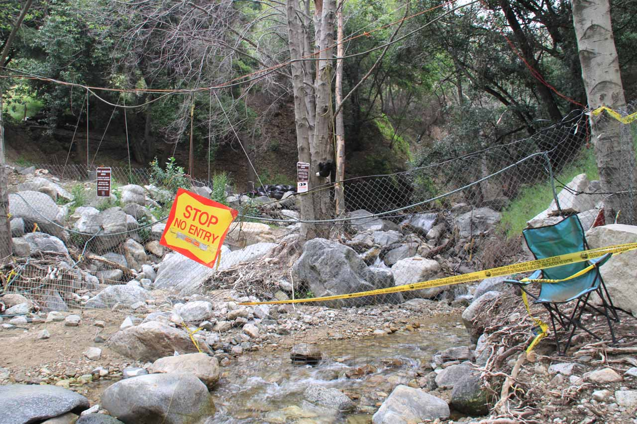 Waterfall trail still closed as of April 2011