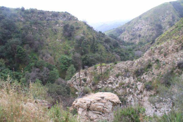 Millard_045_04232011 - Looking over the brink of Millard Falls towards the steep contours of Millard Canyon