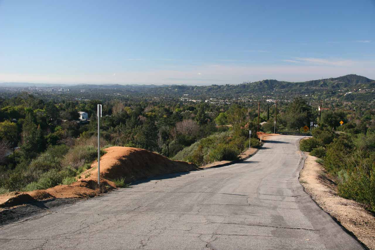 Driving back towards Altadena on Chaney Trail