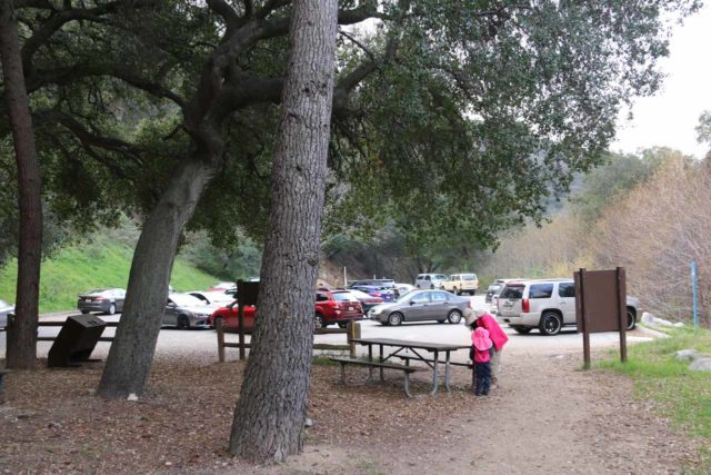 Millard_Falls_16_006_01302016 - Looking back at the parking lot for the Millard Falls Trailhead and the Millard Campground