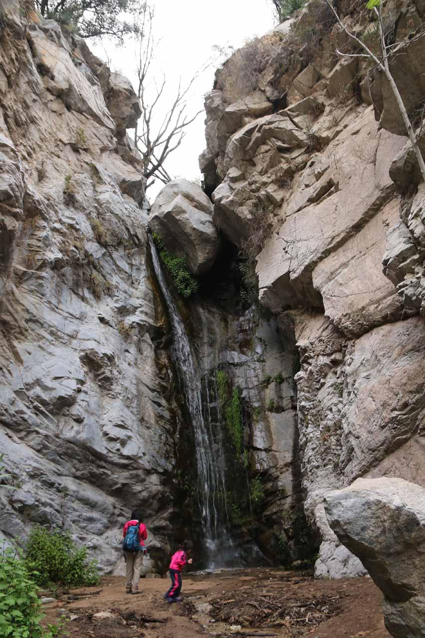 Julie and Tahia enjoying the base of Millard Falls