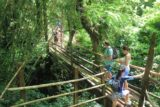 Millenium_Cave_014_11222014 - Crossing a bamboo bridge