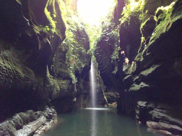 Millenium_Cave_056_jx_11232014 - The 'Hidden World Waterfall' - one of the Millenium Cave Waterfalls seen on the tour