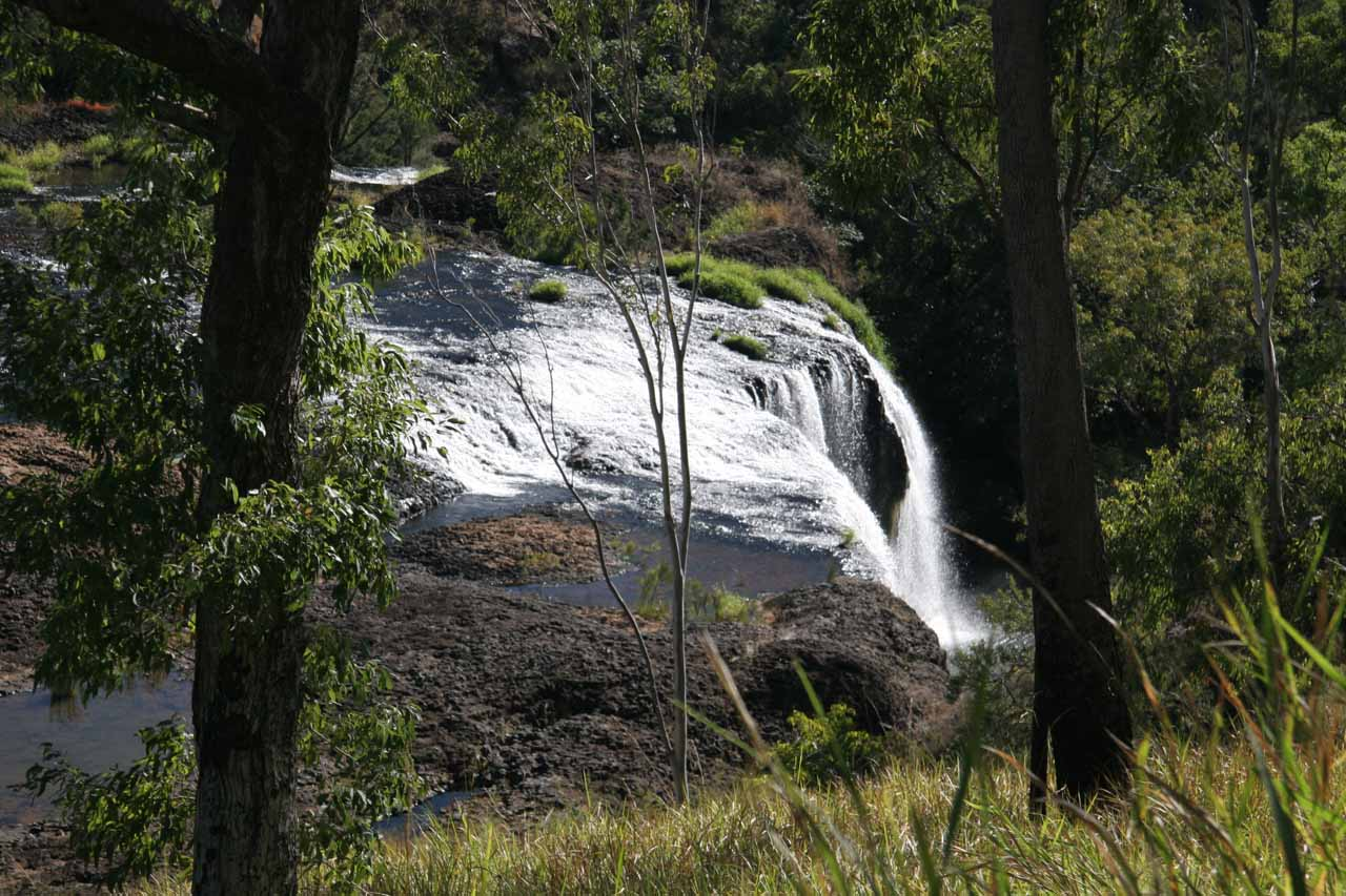 Looking down over the top of Millstream Falls