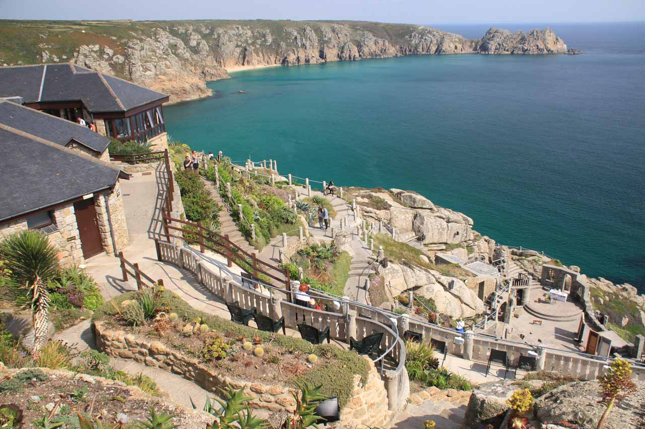 Another must-see attraction near Penzance in Cornwall was the Minack Theater, which was the result of an incredible vision and will of Rowena Cade. It was one of the most scenic theaters in the world