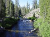 Minaret_Falls_Trail_002_07052002 - Looking downstream from the bridge over the San Joaquin River at the start of our July 2002 hike to Minaret Falls