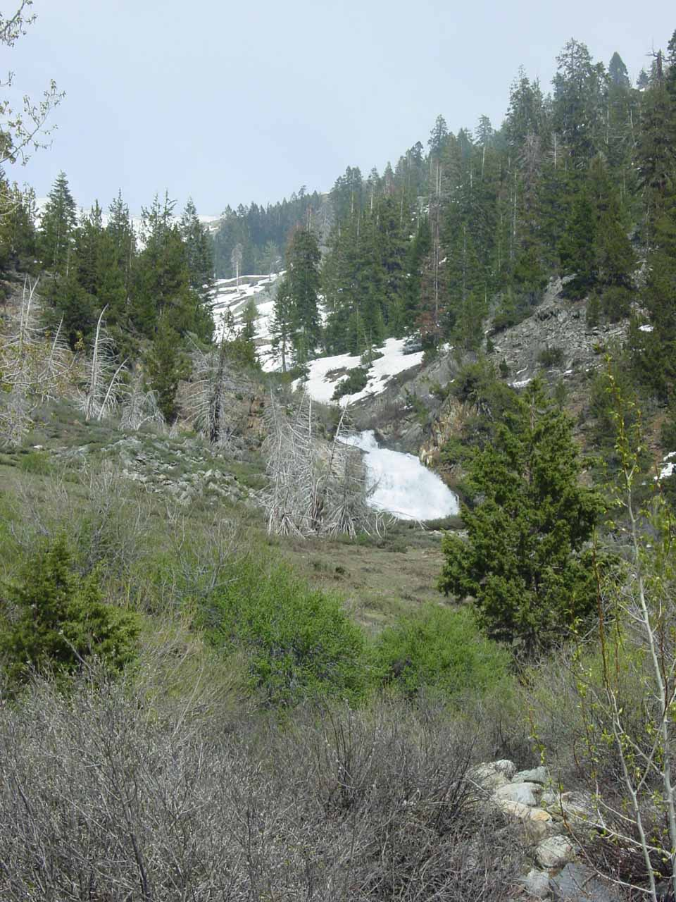 Black Wolf Falls seen from the road