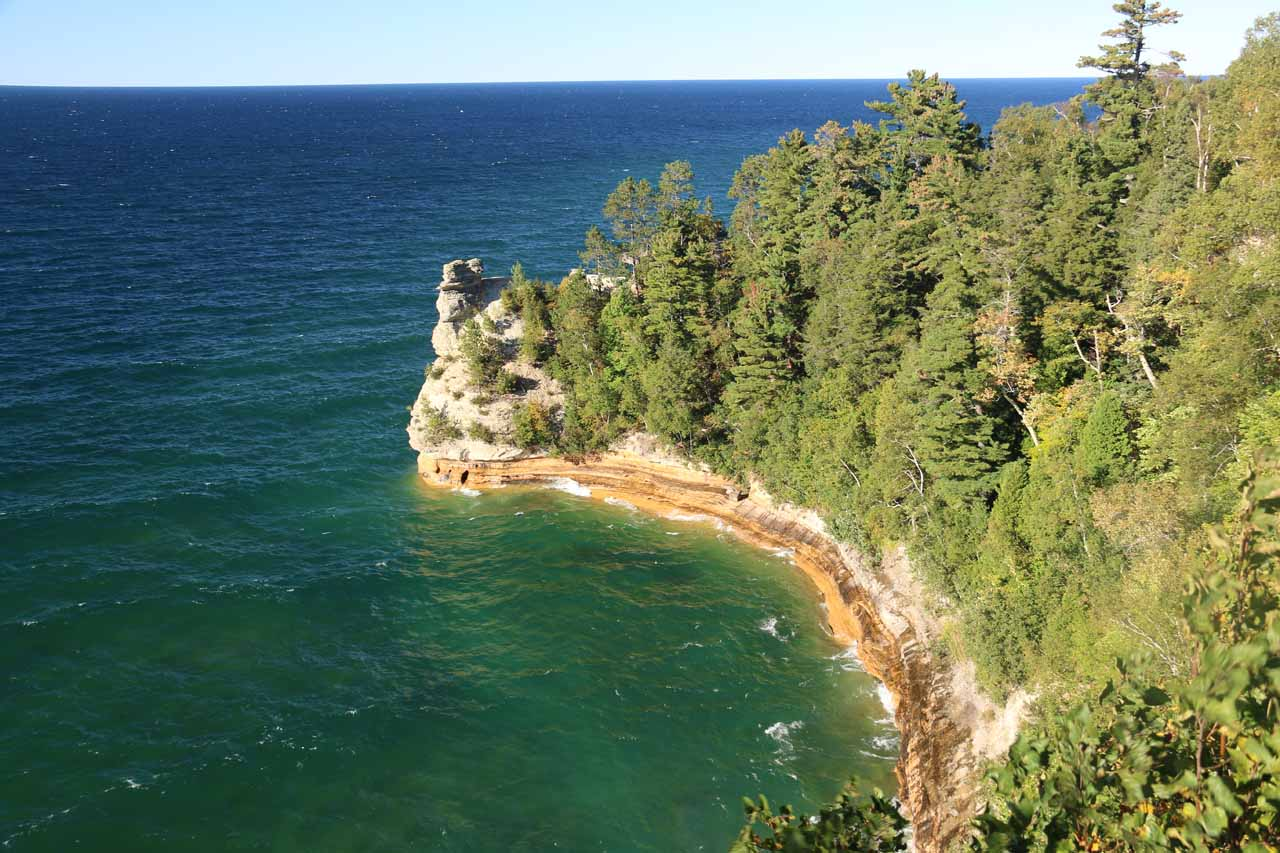 Miners Falls was a slight detour along the Miners Castle Road, which ended at the eccentric rock formation jutting out onto Lake Superior. It was kind of a preview of the Pictured Rocks without a boat