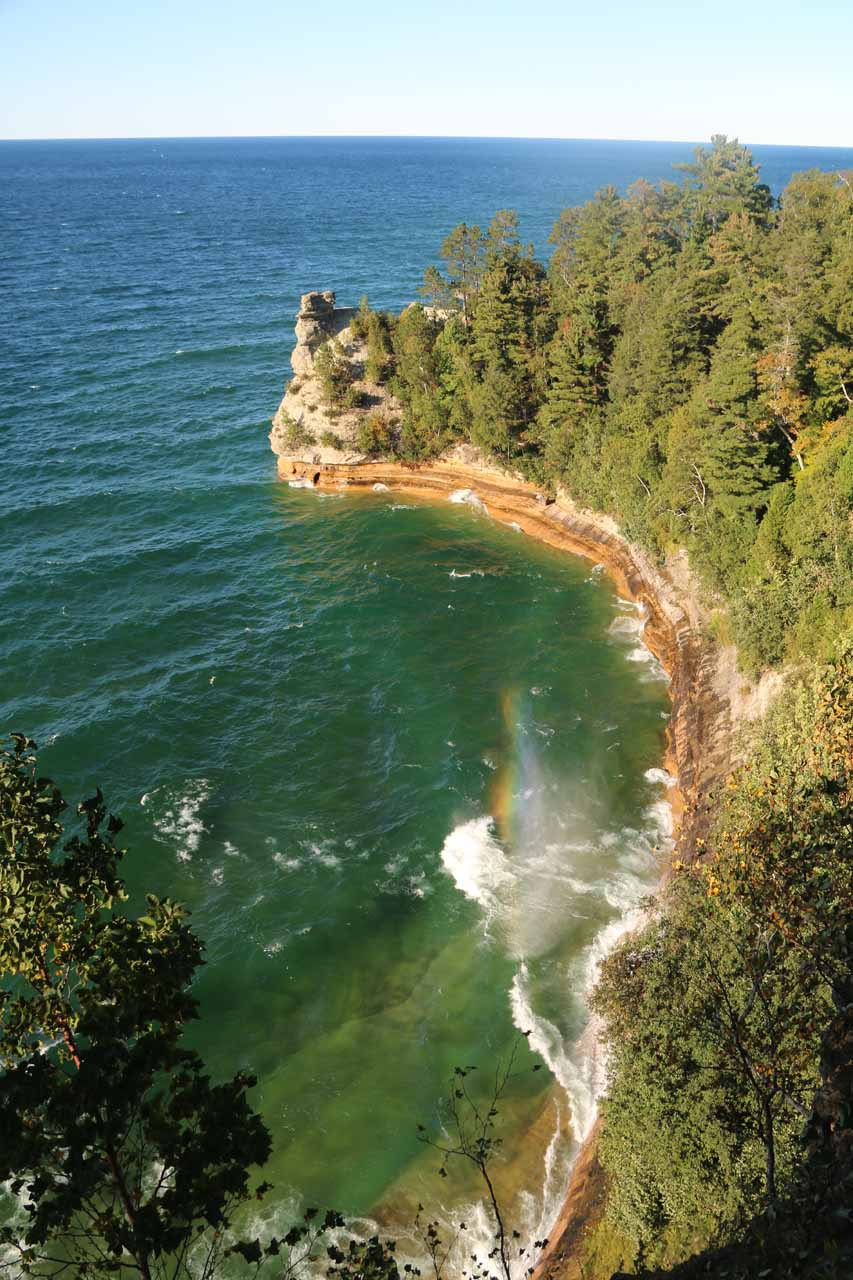 Munising Falls was one of our diversions resulting from the cancellation of all Pictured Rocks cruises on the day of our arrival. However, attractions like Miner's Castle were pumping blowholes