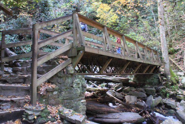 Mingo_Falls_004_20121020 - The footbridge fronting Mingo Falls