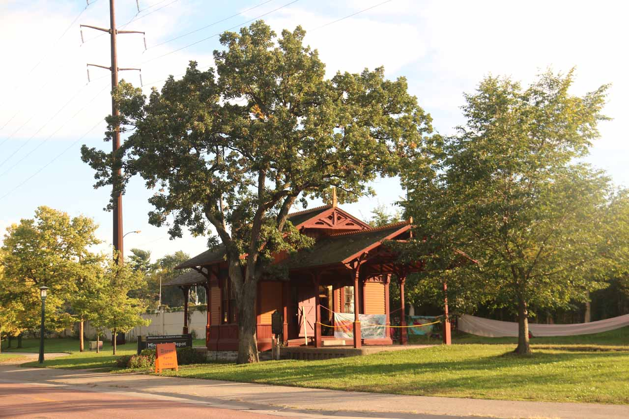 The Minnehaha Depot near Minnehaha Falls