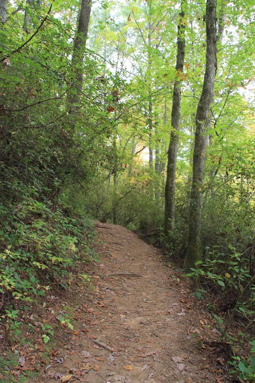 The dirt trail to Minnehaha Falls