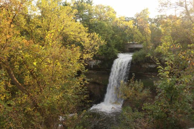 Minnehaha_Falls_024_09252015 - Just minutes from the Mall of America was the beautiful Minnehaha Falls, where it was hard to believe that such a beautiful falls was for all intents a purposes an urban waterfall