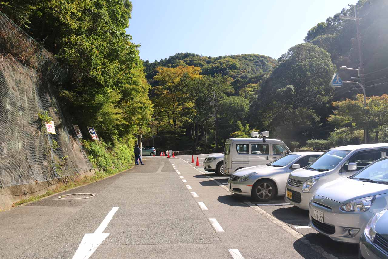 This was the car park closest to the Minoh Falls