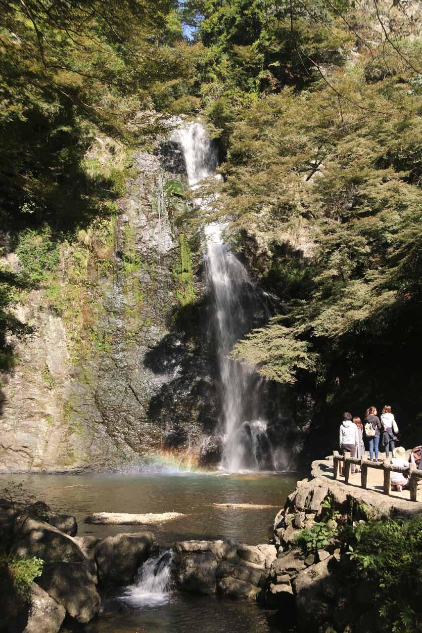 The Minoh Waterfall or Minoo Waterfall