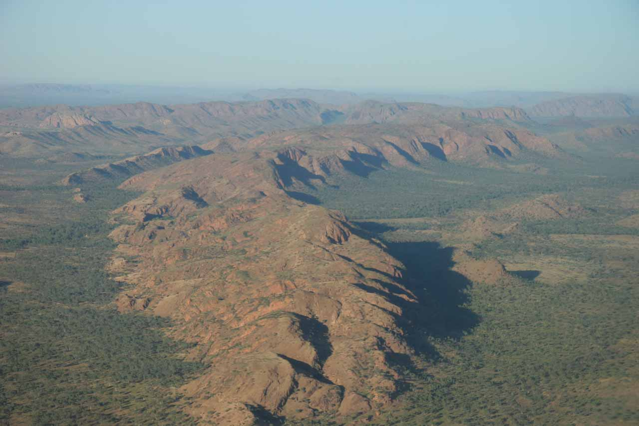 Flying over some interesting formations as we were leaving Kununurra for the Mitchell Plateau