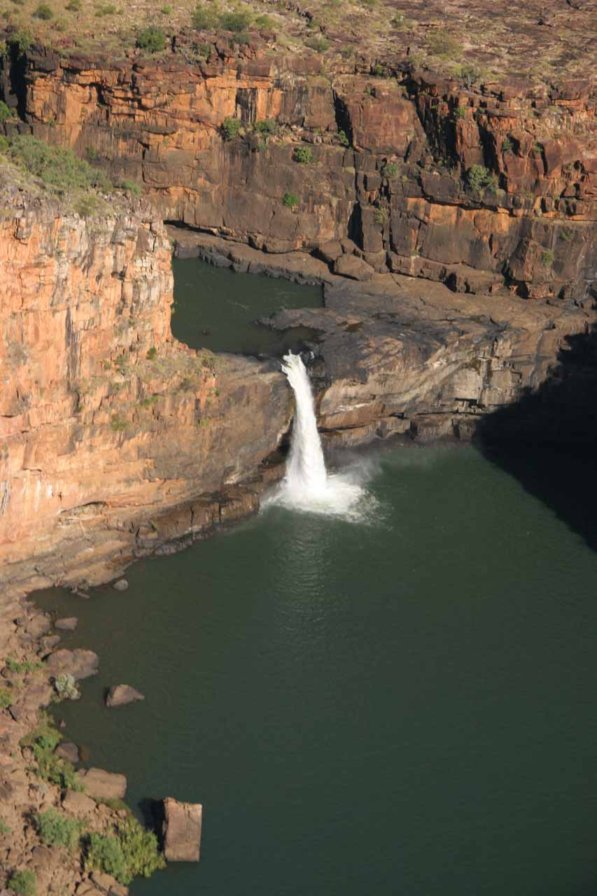 Looking at the lowermost tier of Mitchell Falls