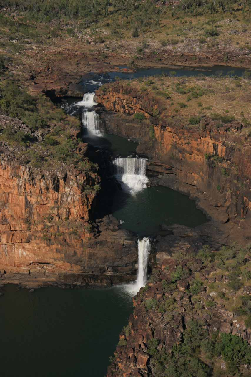 Looking down at all 4 tiers of Mitchell Falls