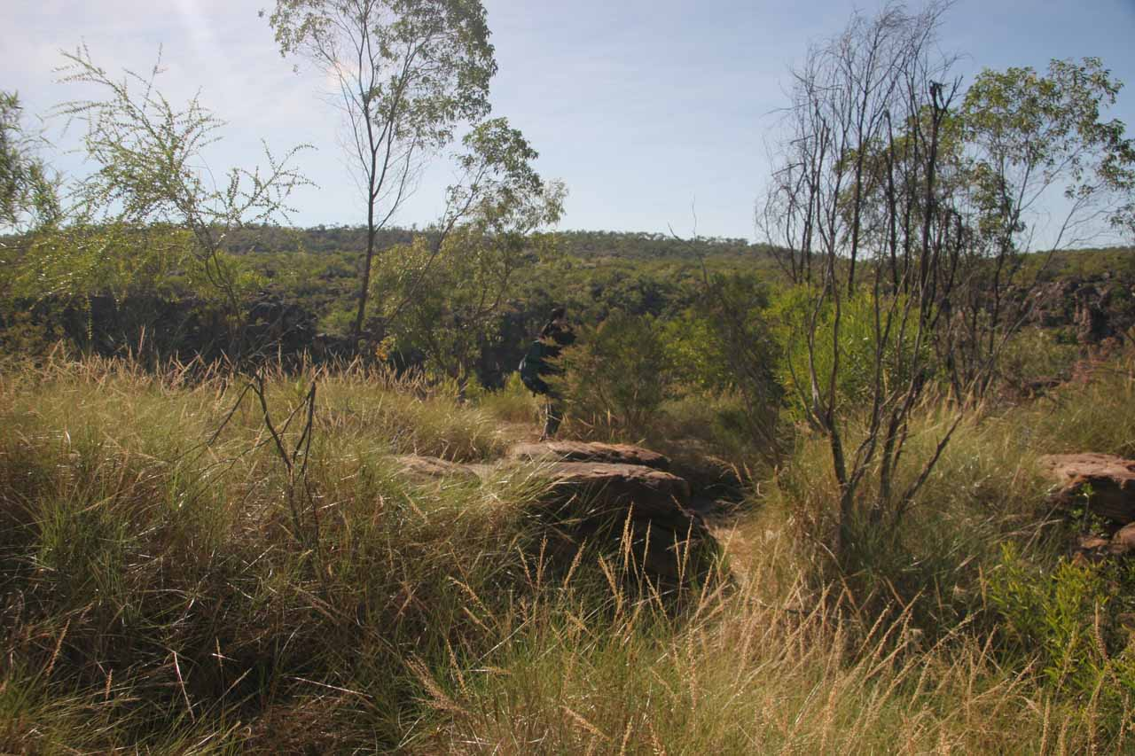 The terrain we were faced with as we had to go the final distance to Mitchell Falls