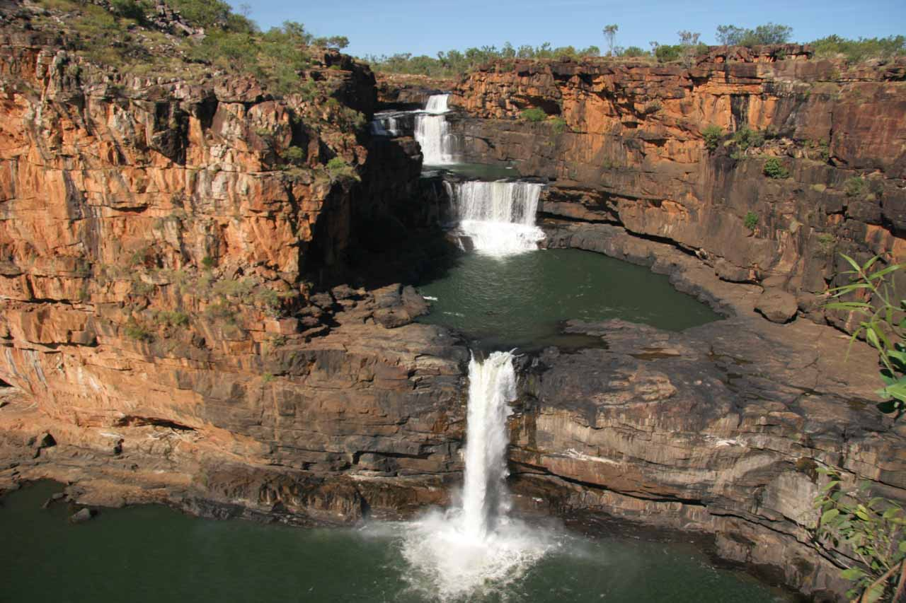 Horizontal look at Mitchell Falls