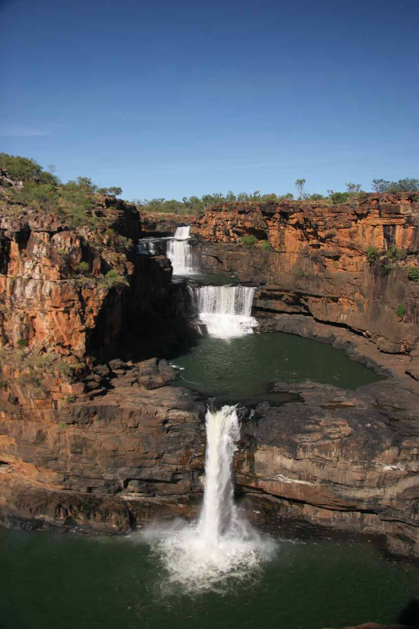 Finally, all four tiers of Mitchell Falls from the end of the trail