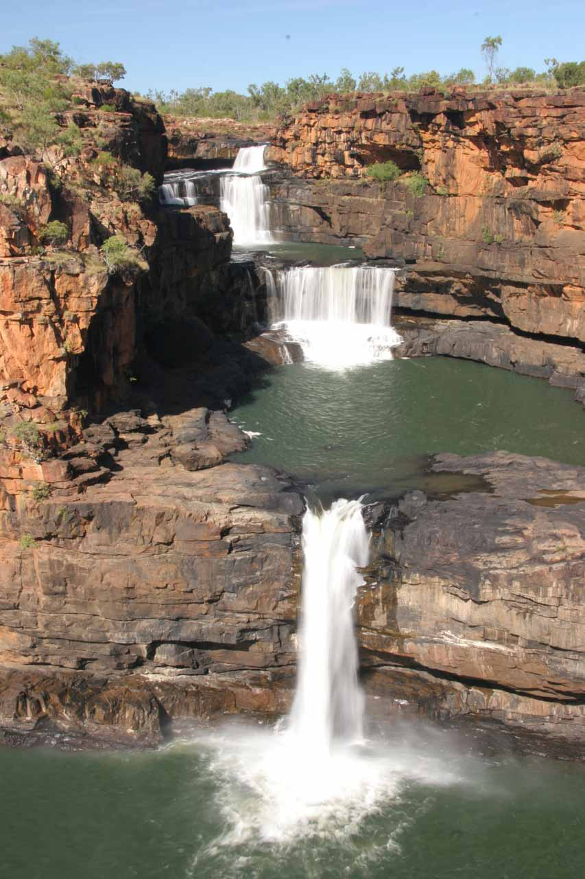 Bright look at the Mitchell Falls from the final lookout