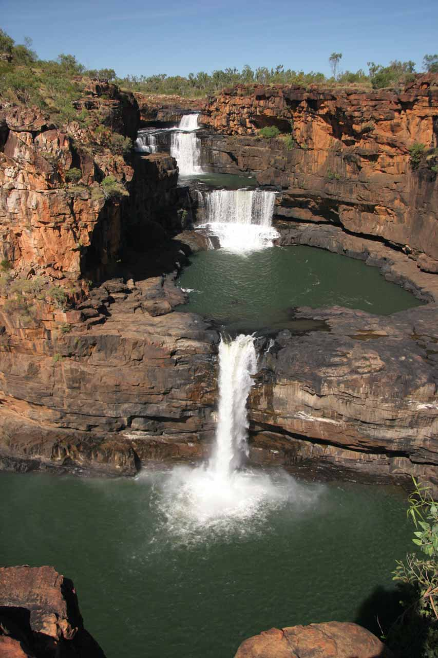 Last look at Mitchell Falls in full from the precarious lookout