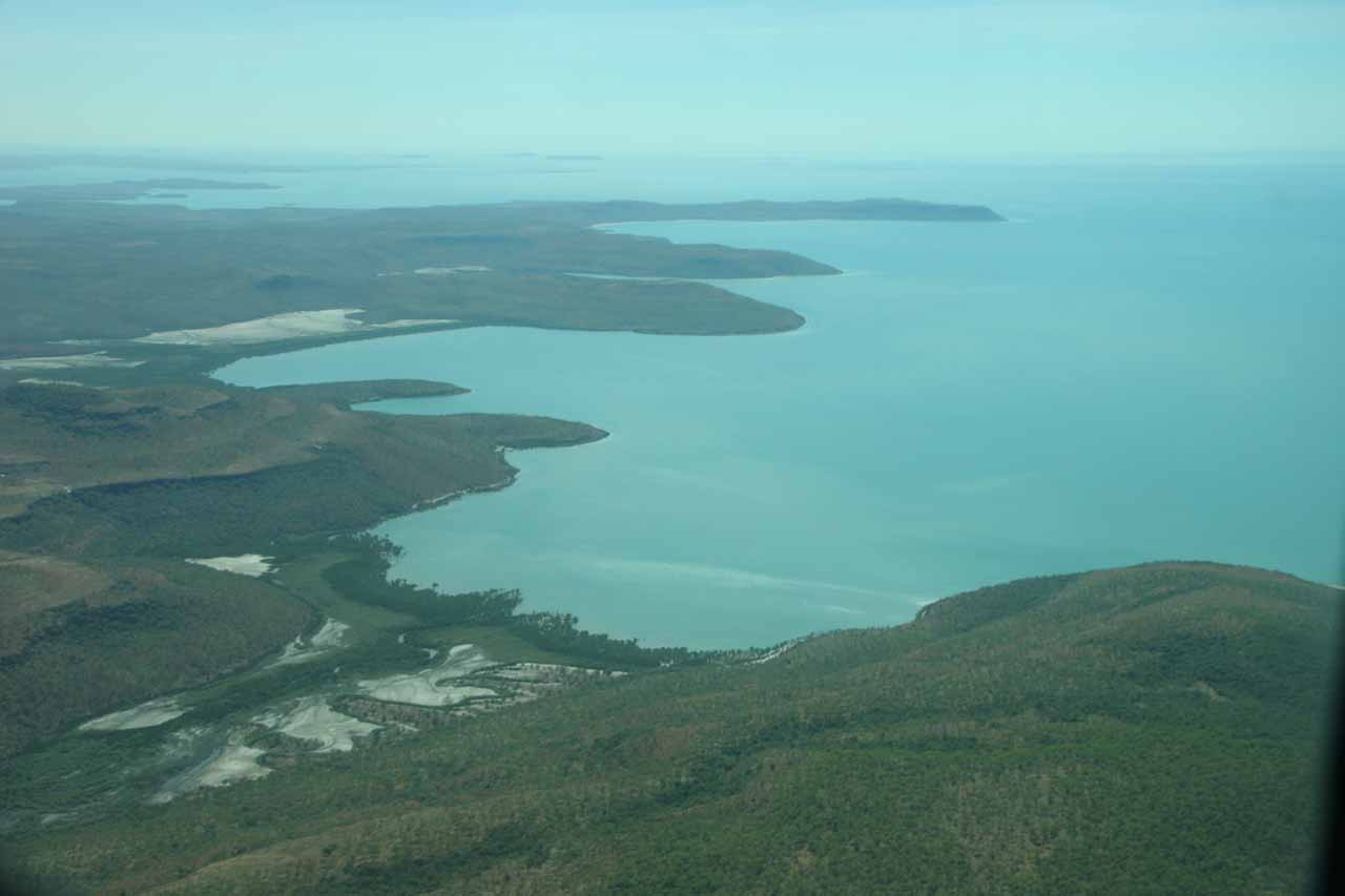 Looking along the remote northern shores of Australia in the Kimberley Region