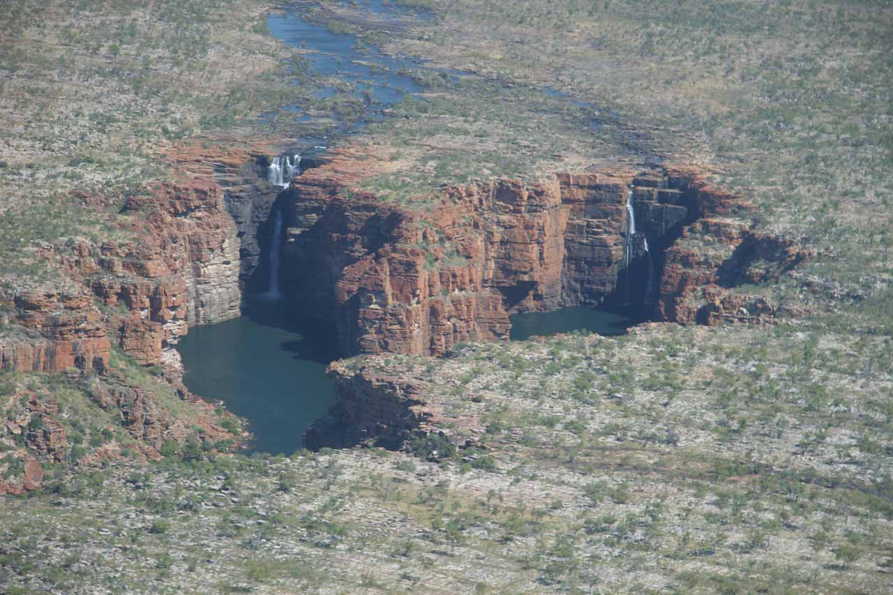 King George Falls in the shadow of its own gorge