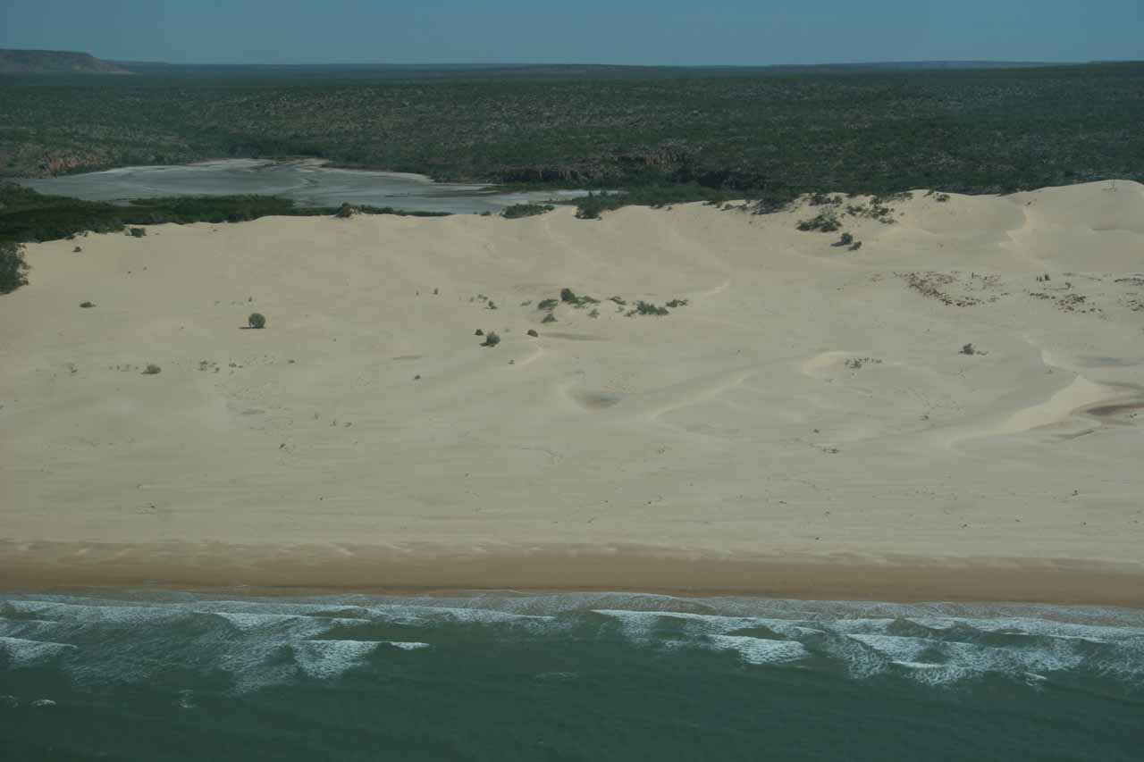 Big sand dunes of the remote North Kimberley beaches