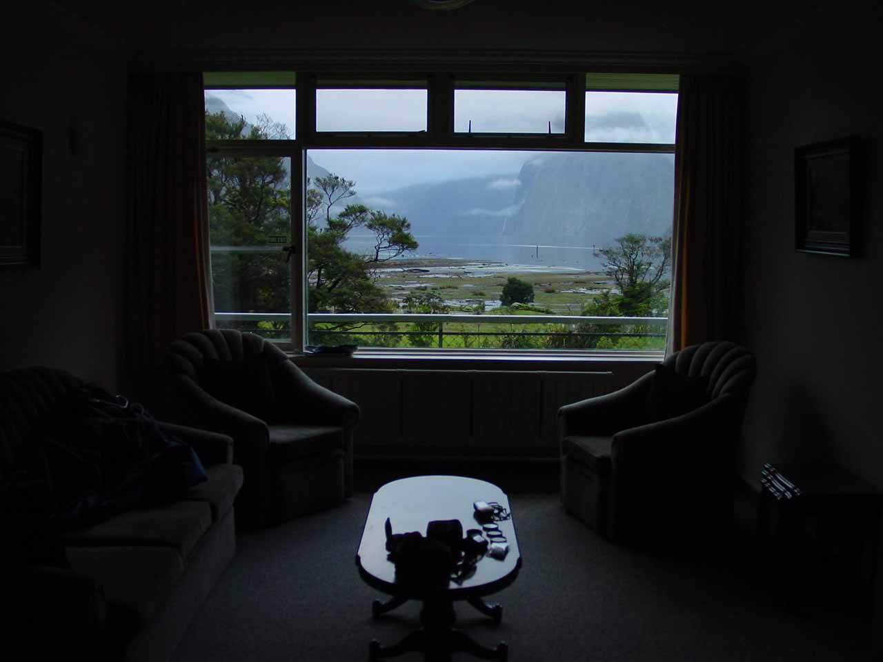 Inside the Mitre Peak Lodge