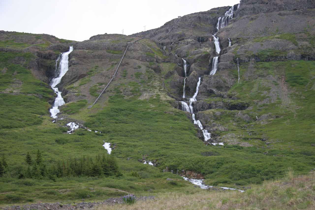 Pair of falls at Mjólkárvirkjun