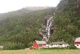 Mo_I_Modalen_022_06272019 - Looking towards Kvernhusfossen, which tumbled behind one of the farms of Mo i Modalen north of the single-lane bridge