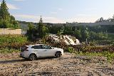 Mo_i_Rana_078_07092019 - The informally parked spot in some kind of construction zone near the waterfall beneath the flume in Mo i Rana
