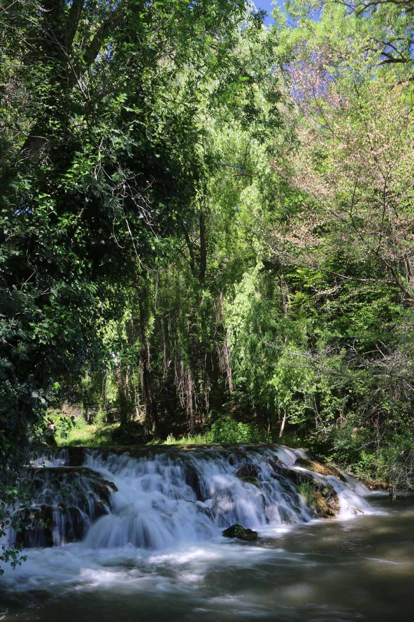 Checking out a small cascade near Diana's Bath