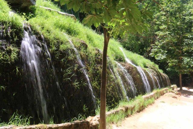 Monasterio_de_Piedra_390_06052015 - Looking across the Cascada de los Chorreaderos, which was another one of the 'well-behaved' waterfalls on the walk through the Monasterio de Piedra park