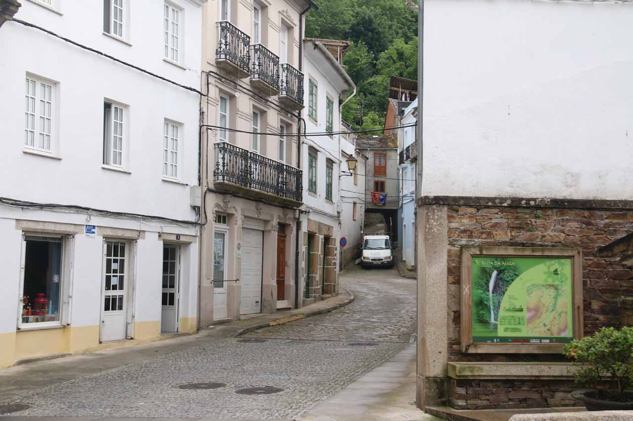 This was narrow road leading past the Fonte Vella to the Barrio dos Muiños from the centro of Mondoñedo