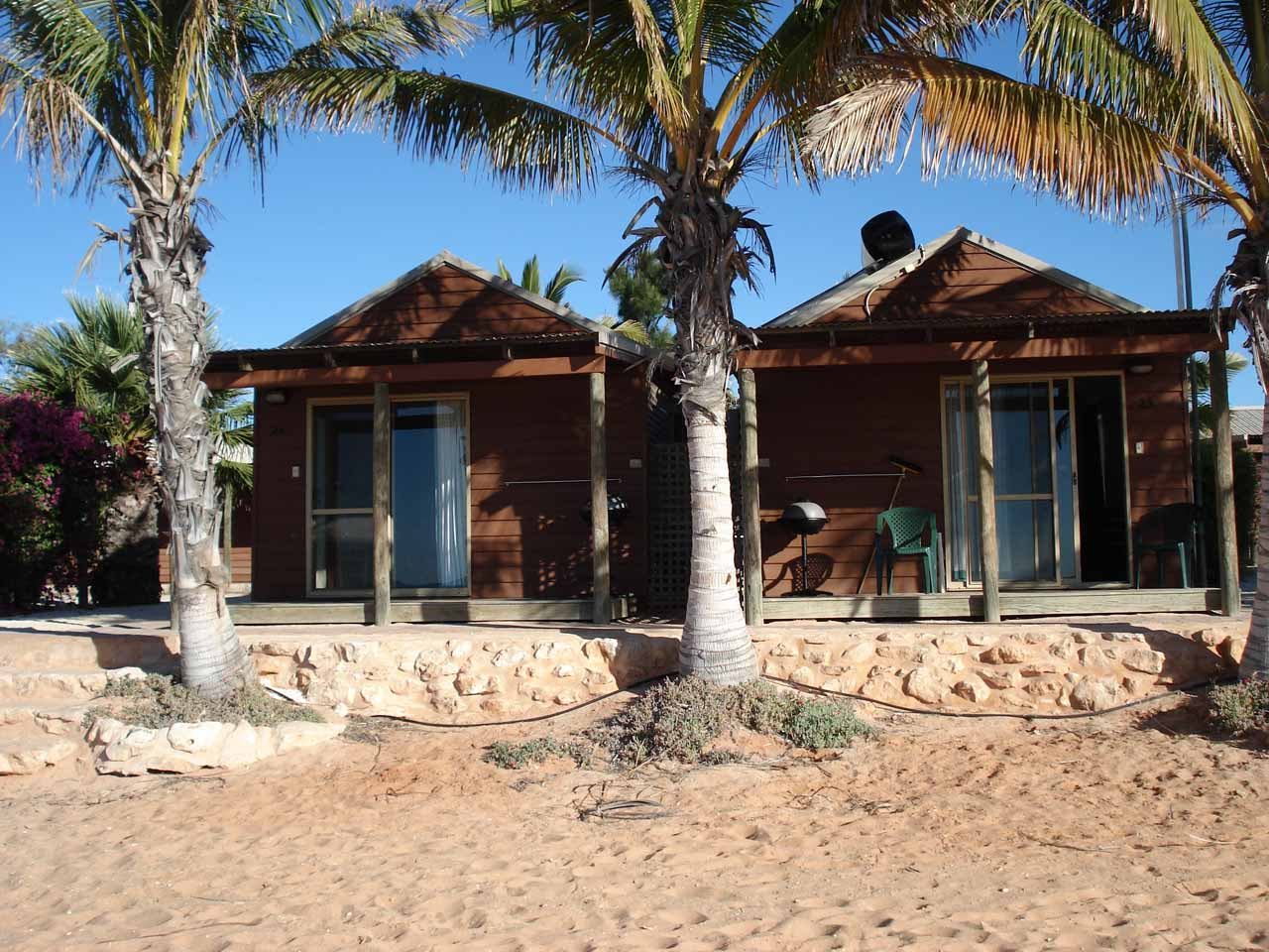 Our accommodation at Monkey Mia