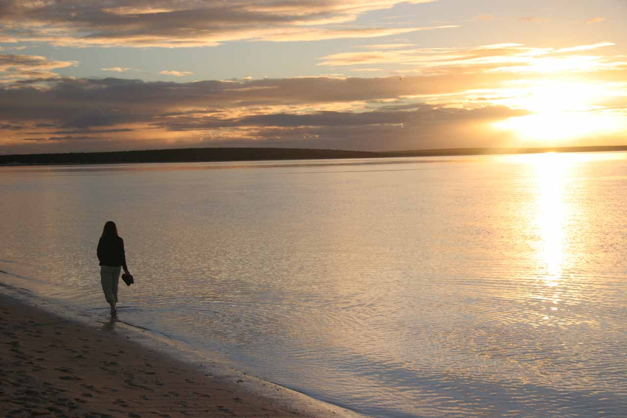 Sunset at Monkey Mia in Western Australia